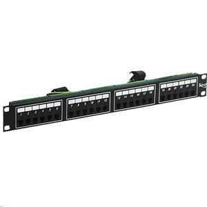ICC Telco Patch Panel, 6 Position 4 Conductor,  24 Port/1 RMS