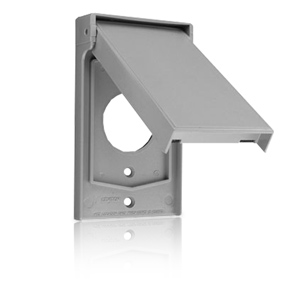 Leviton Single Receptacle Thermoplastic Weather-Resistant Covers