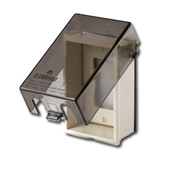 Leviton Telescoping Raintight Vertical Mount Cover for Duplex, Decora, and Single Receptacle