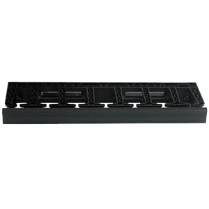 Velocity Single-Sided Horizontal Cable Manager, 1U, Black