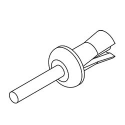 Legrand - Ortronics Rivets for Backboard Mounting 110 Blocks (Package of 12)