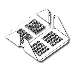 Double Sided Vented Rack Shelf