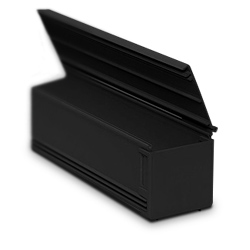 4x4 Solid Duct with Hinged Cover, Black