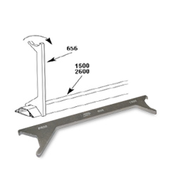 Legrand - Wiremold 1500 and 2600 Series™ Steel Pancake® Overfloor Raceway Cover Removal Tool
