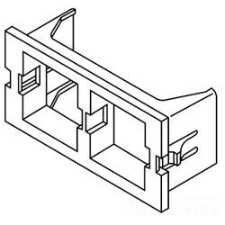 Legrand - Wiremold CM Series™ 2A Single Systimax (Avaya) Unloaded Keystone Module