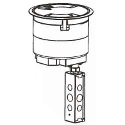 Legrand - Wiremold Recessed Assembly with Flush Style Cover