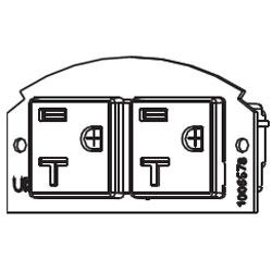 Legrand - Wiremold Evolution Series 20AMP Duplex Receptacles