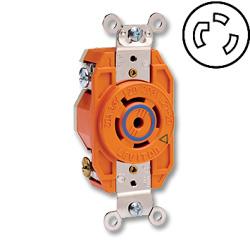 Leviton 30 Amp Flush Mtg Locking V-0-MAX Receptacle (Isolated Ground)