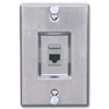 MAX Series Stainless Steel Wall Phone Faceplate with Keystone MAX Module