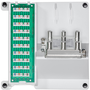 Leviton Compact Series: Telephone and 6-Way Video Panel