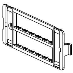 Legrand - Wiremold 5507 Series™ Ortronics Faceplate - 6 Inserts