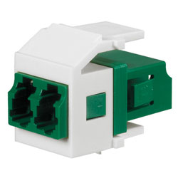 Panduit® Netkey Keyed C Duplex LC Adapter Module with Zirconia Split Sleeves