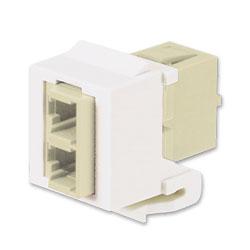 Panduit® Netkey LC Duplex Multimode Adapter Module with Phosphor Bronze Split Sleeves