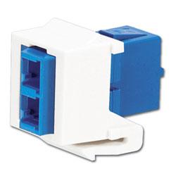 Panduit® Netkey LC Duplex Singlemode Adapter Module with Zirconia Ceramic Split Sleeves