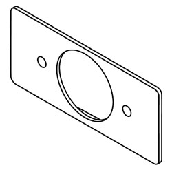 Legrand - Wiremold 5507 Series™ Single Receptacle Faceplate - 1.59