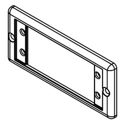 Legrand - Wiremold 5507 Series™ Extron AAP Faceplate