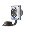 Twist-Lock Watertight Safety-Shroud Flanged Inlet