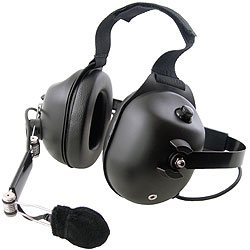 Pryme Black Dual Earmuff Standard Headset
