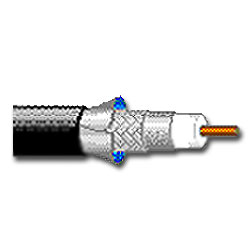 18 AWG Solid Bare Copper  RG6 Coaxial Cable, 1000'