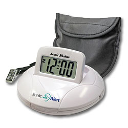 Sonic Alert Shaker Portable Vibrate Alert Alarm Clock