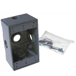 Hubbell Single Gang Deep Weatherproof Box 5-1/2 Inches Outlets