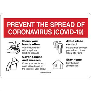 Prevent COVID-19 Spread Sign