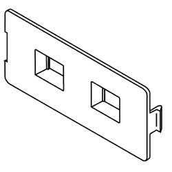 Legrand - Wiremold 5507 Series™ Flush Dual RJ11 / RJ45 Faceplate