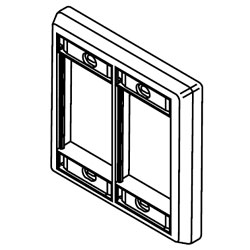 Legrand - Wiremold CM Series™ Double Gang Faceplate
