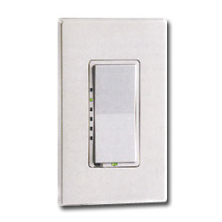 Leviton DHC Powerline Rcvr Wall Switch Dimmer Light Switch with LED/2-Way Communication (Green Line)